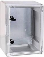 Шкаф ударопрочный из АБС-пластика e.plbox.300.400.195.tr 300х400х195мм IP65 с прозрачной дверцей