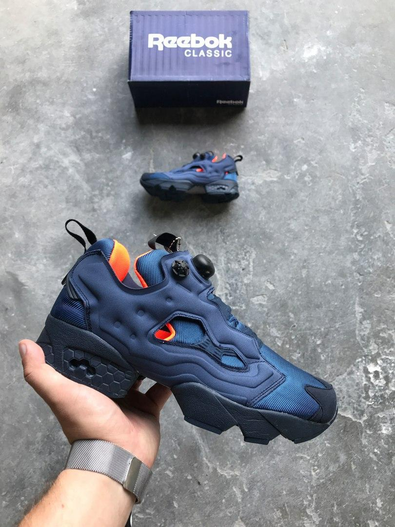 fef10770 Кроссовки Reebok Insta pump Fury Tech Collegiate Navy/White. Живое фото  (Реплика ААА+)