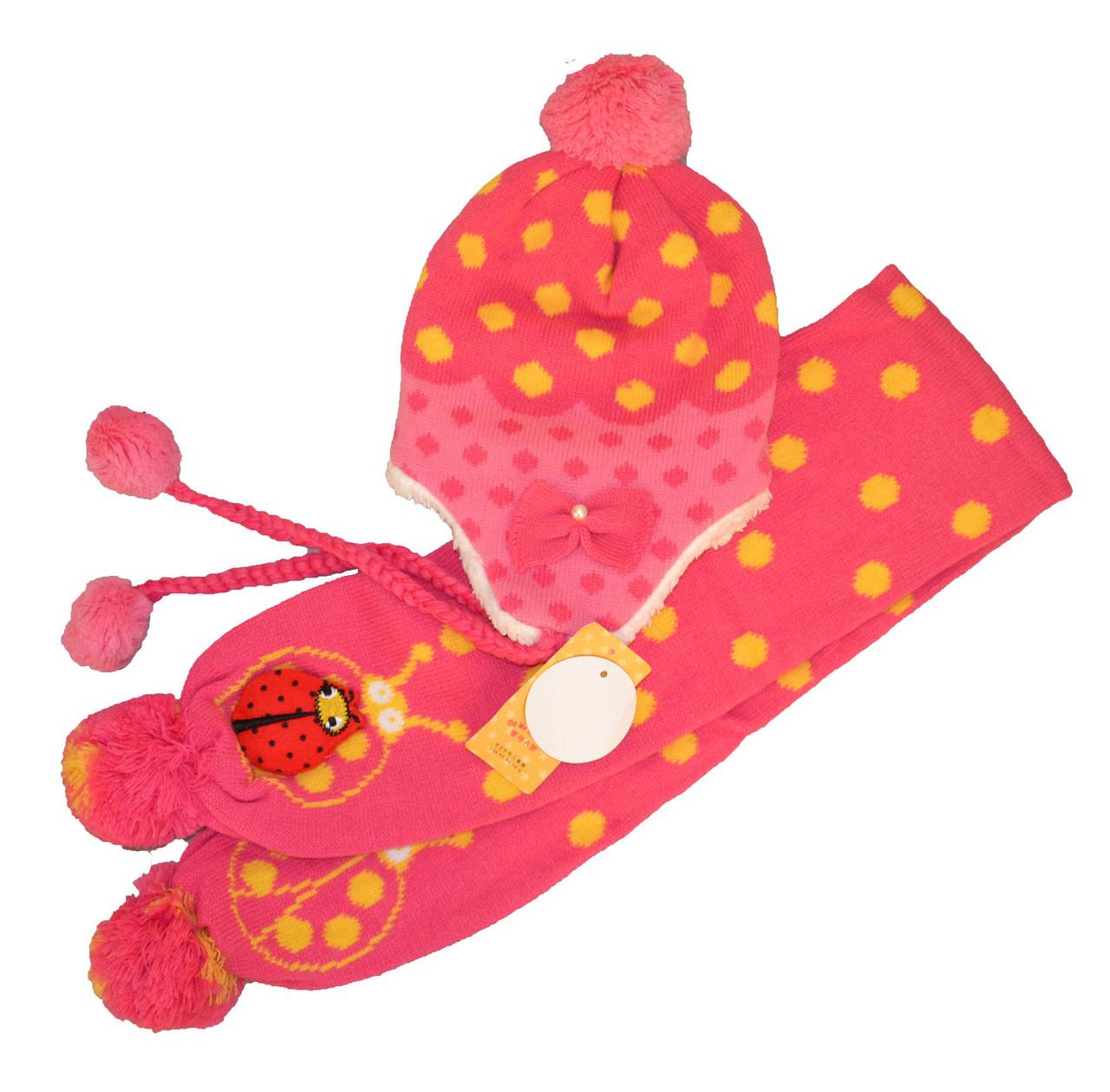 Набор шапка и шарф зимний для девочки