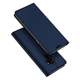 Чехол книжка для Samsung Galaxy S9 Plus боковой с отсеком для визиток, DUX DUCIS, темно-синий