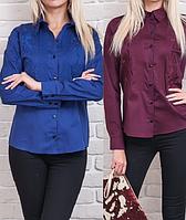 Рубашка женская бордо и синияя