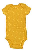Carters Бодики для девочки короткий рукав желтый