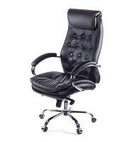 Кожаное кресло ЛАЦИО CH MB черный
