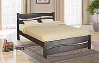 Кровать деревянная двуспальная Волна 1,6м сосна