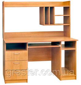 Компьютерный стол Оскар с надстройкой. Стол для ПК в кабинет и офис