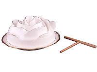Блюдо с крышкой Lefard Роза 22 см 590-020