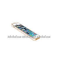 Бампер для iPhone 5/5S Chanel Золото белый