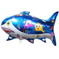 Шар воздушный фольгированный Акула