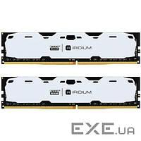 Память GOODRAM 16 GB (2x8GB) DDR4 2400 MHz Iridium White (IR-W2400D464L15S/16GDC)