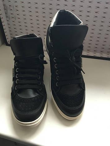 Кросівки чоловічі демісезонні шкіряні високі чорні Antony Morato, фото 2