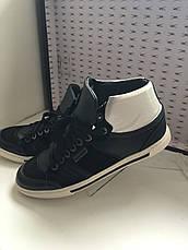 Кроссовки мужские кожаные демисезонные высокие черные Antony Morato, фото 2