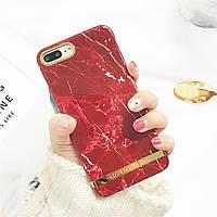 Чехол накладка на iPhone 7 Plus/8 Plus Ilovemyphoneбордовыймрамор