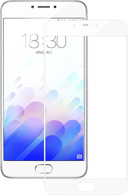 Защитное стекло для телефона Piko Full Cover Meizu M6 (белое) (1283126480768)