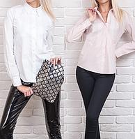 Рубашка женская белая и пудра, фото 1