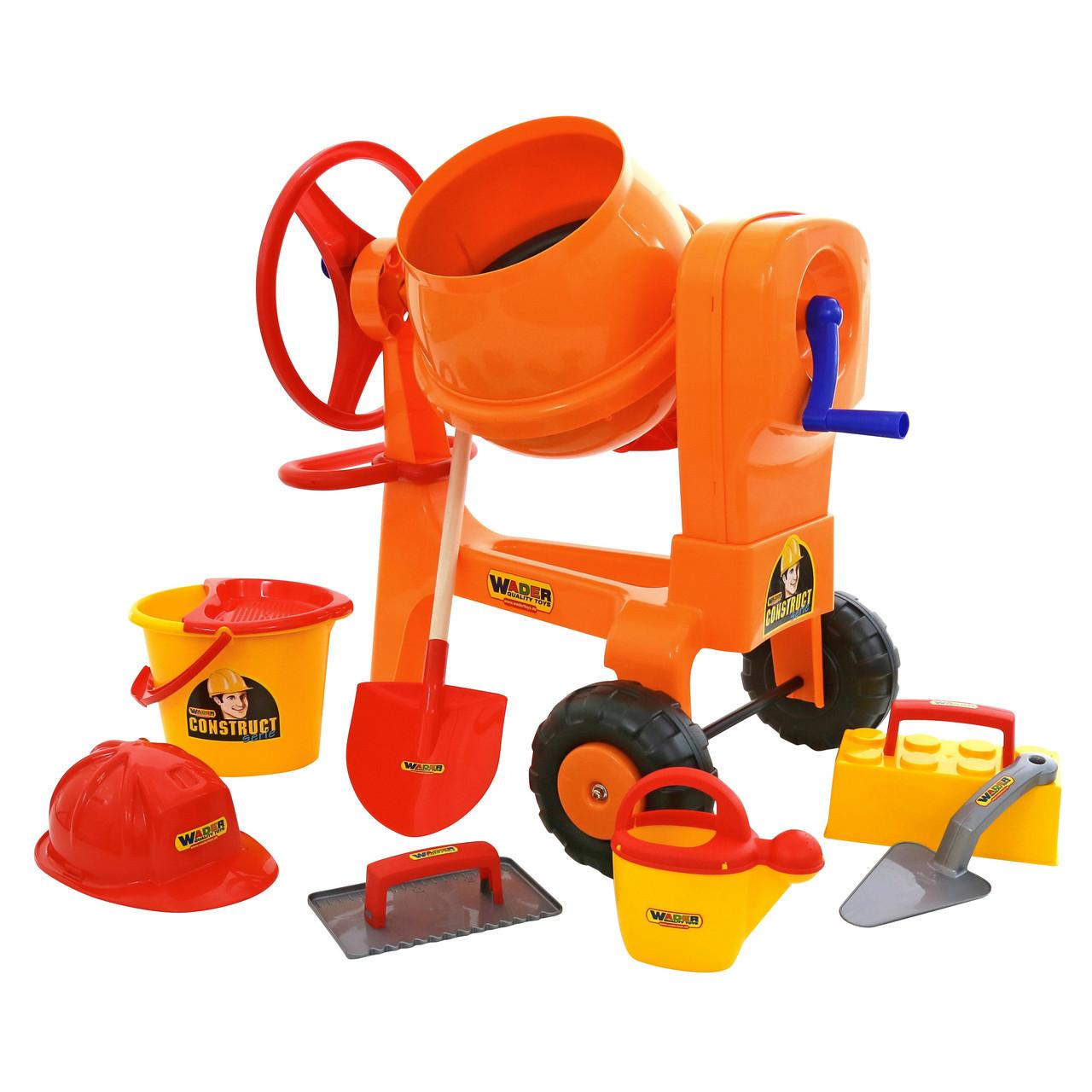 Бетономешалка Construct и Набор каменщика № 7 Construct, 8 элементов, «Wader» (50649)
