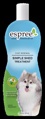 Espree Simple Shed Treatment, 355 мл - кондиционер для использования во время линьки для собак и кошек