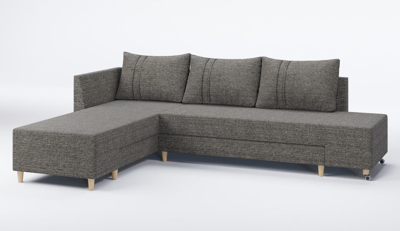 Бронкс угловой диван Sofyno 2950х2150х750 мм с поворотным механизмом