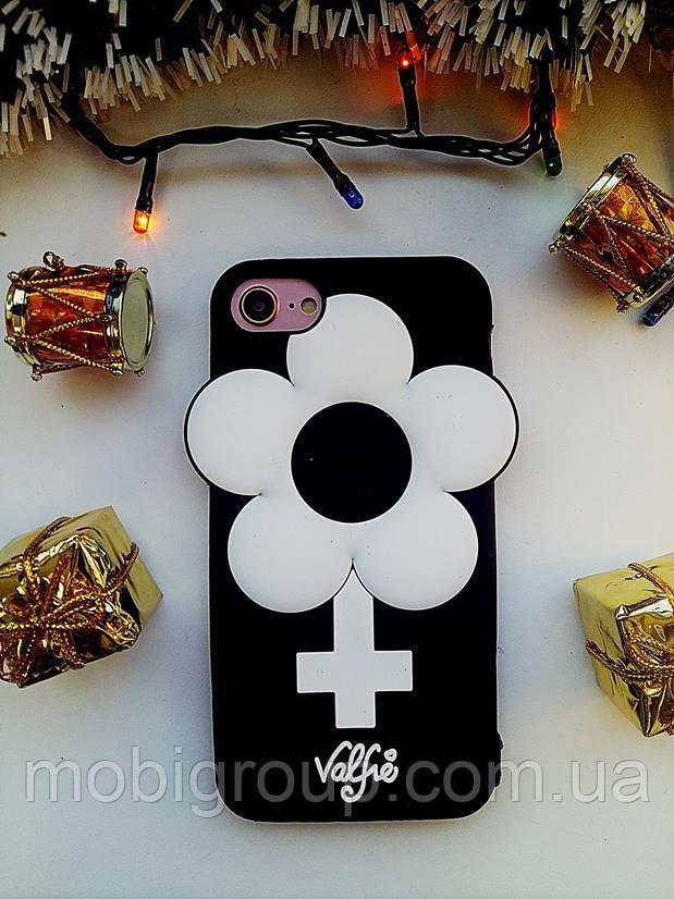 Силиконовый чехол Ромашка iPhone 7, Valfre
