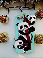 Силиконовый чехол 3 Панды iPhone 8