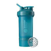 Blender Bottle, Спортивный шейкер BlenderBottle ProStak Teal, 650 мл