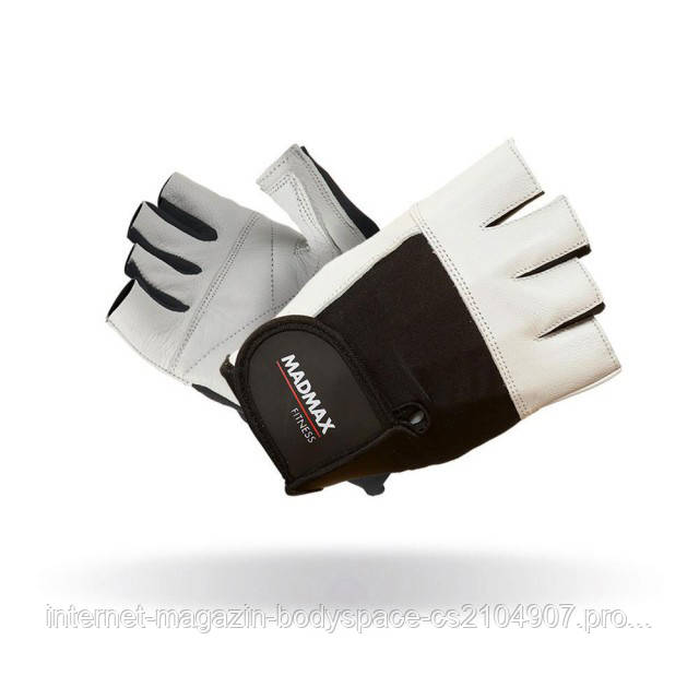 MadMax, Перчатки спортивные Fitness MFG 444. Цвет черный/белый
