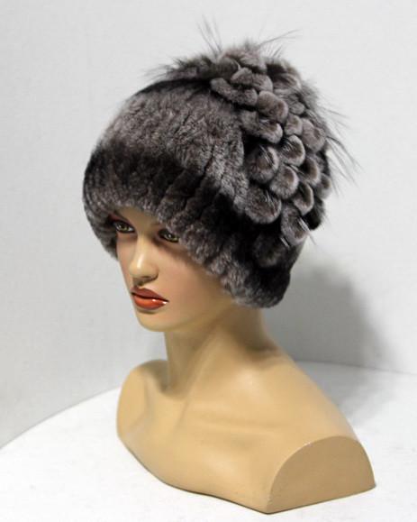 Меховая шапка из Rex Rabbit Водограй (шиншилла)  продажа ecf1a51d1e09a