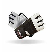 MadMax, Перчатки спортивные Professional MFG 269. Цвет черный/белый