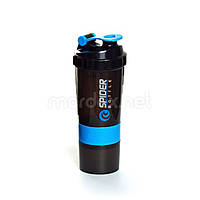 SpiderBottle, Спортивный шейкер Spider Bottle Mini2Go Black/Aqua, 600 мл