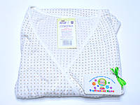 Ночная рубашка для родов и кормления 50 размер (белая в бежевый горошек)