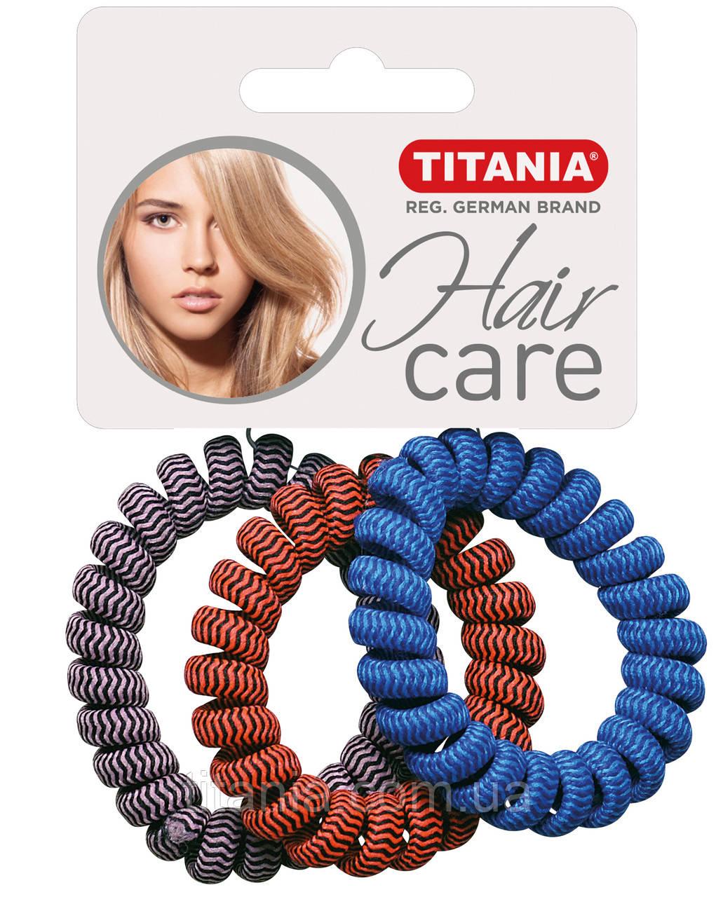 """Зажим для волосся """"ANTI ZIEP"""" пластмасовий 3 шт., діаметр 4 см TITANIA 7924"""