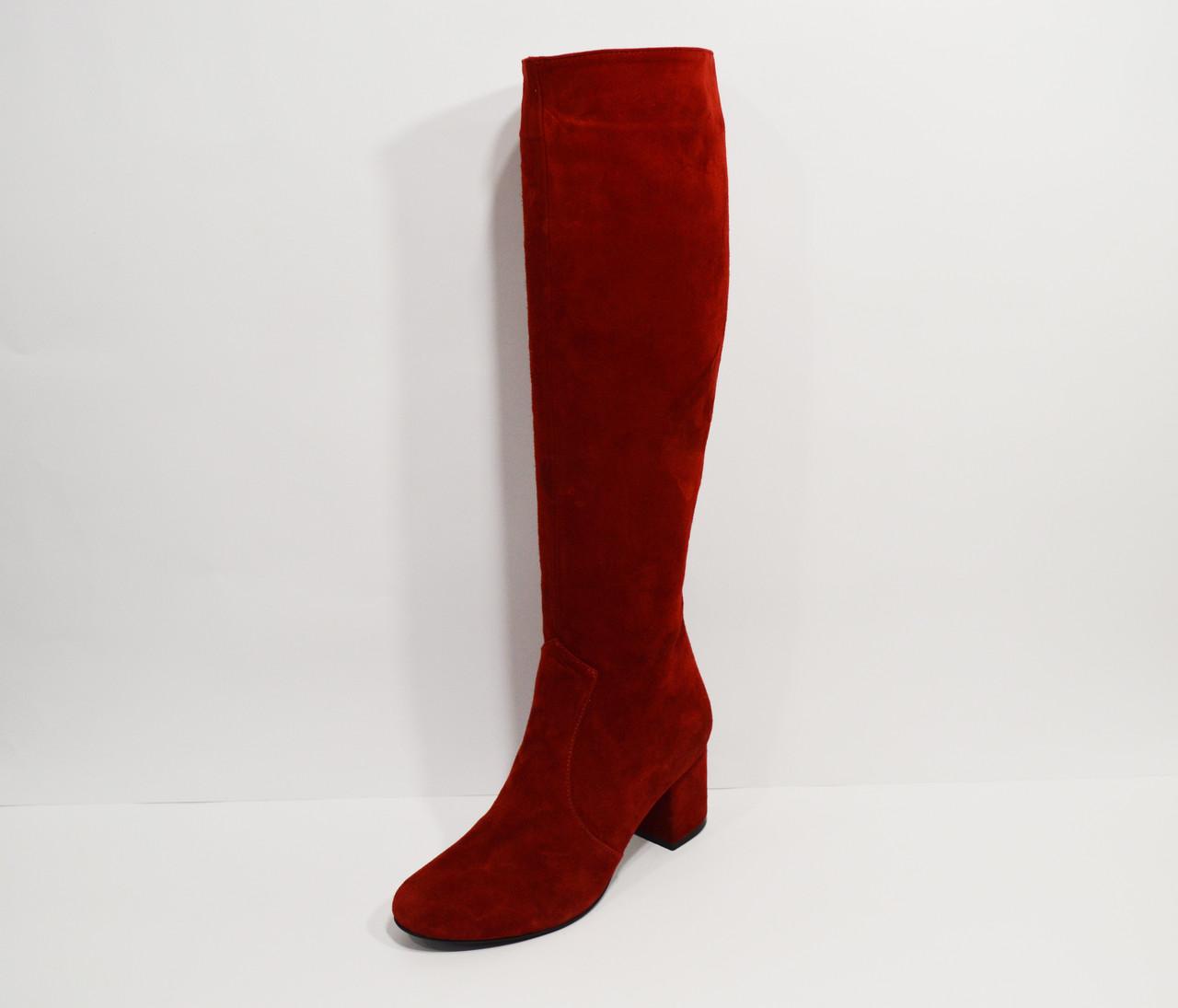 Красные демисезонные сапоги Nivelle 7024