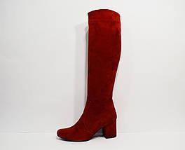 Красные демисезонные сапоги Nivelle 7024, фото 3