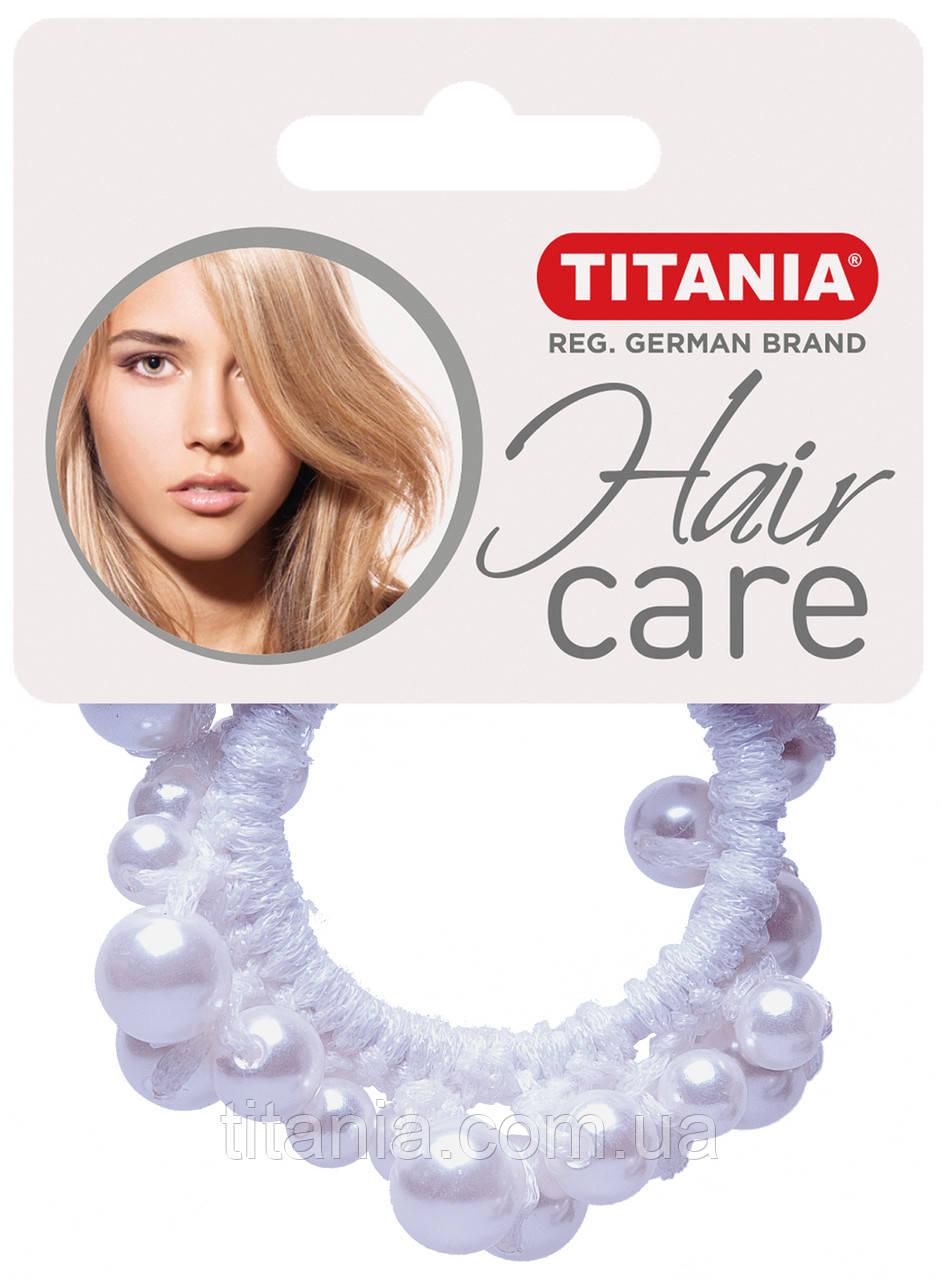 Зажим для волосся еластичний, 1 шт., білий TITANIA 8171