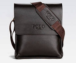 Мужская сумка через плечо POLO VIDENG Dark Brown