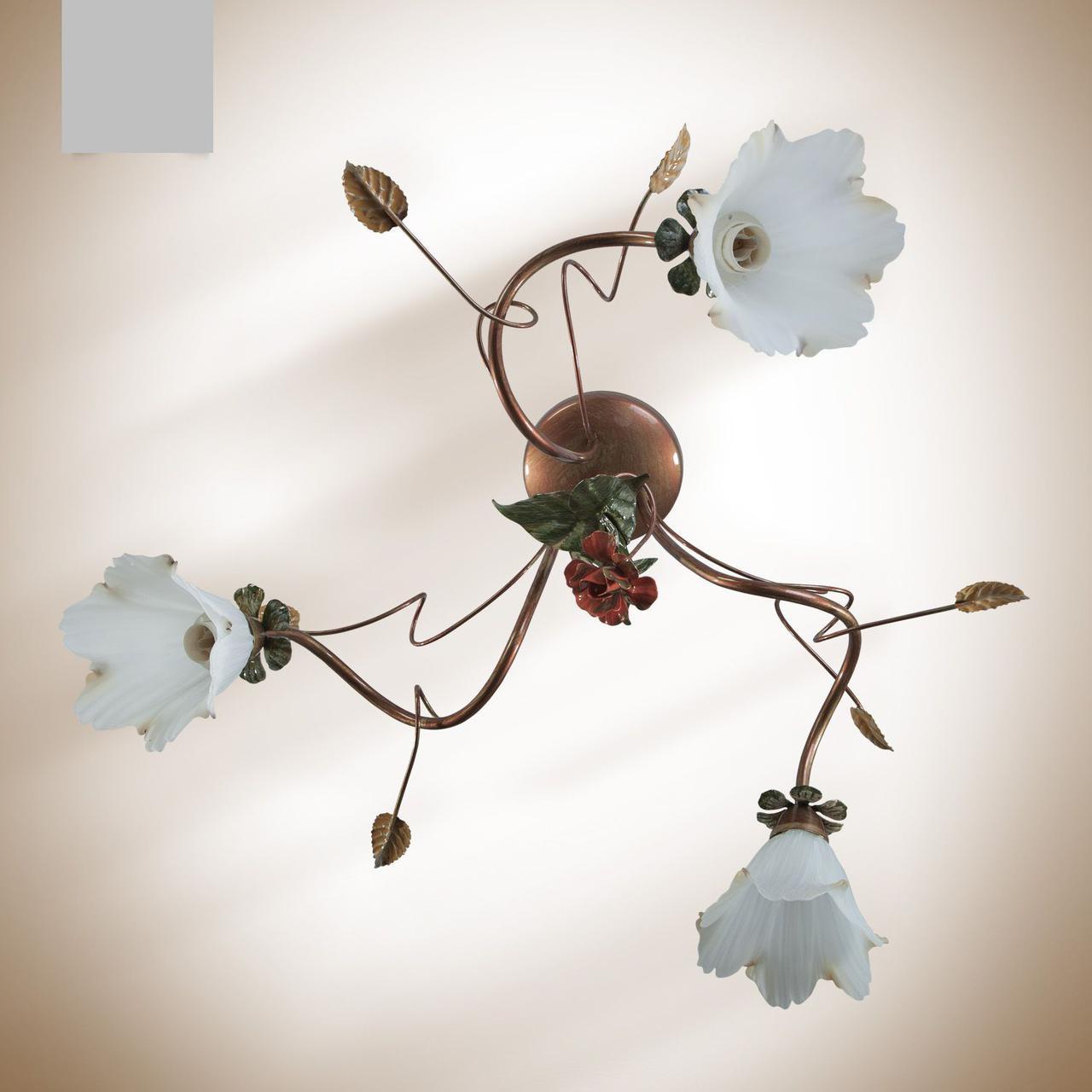 Люстра металлическая цветочная для спальни, кухни 15203-1