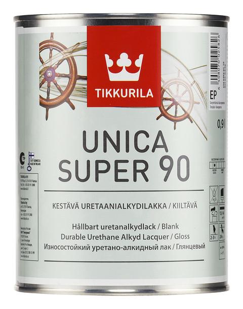 Уретано-алкидный глянцевый лак Уника Супер (Unica Super), Тиккурила (Tikkurila), EP, 2,7л
