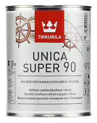 Уретано-алкидный глянцевый лак Уника Супер (Unica Super), Тиккурила (Tikkurila), EP, 0,9л