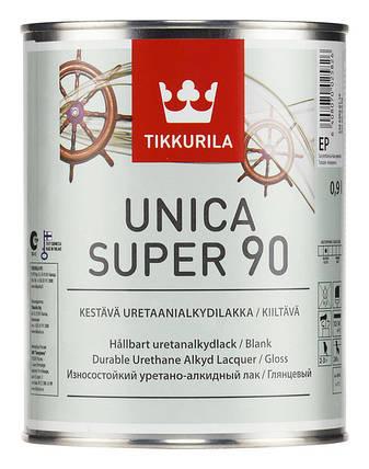 Уретано-алкидный глянцевый лак Уника Супер (Unica Super), Тиккурила (Tikkurila), EP, 2,7л, фото 2