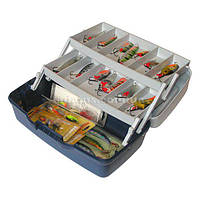 Контейнер, органайзер, ящик, коробка для рыболовных снастей 2 полки AQUATECH 1702Т  ручка для транспортировки