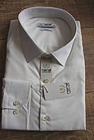 Мужская рубашка Nens Slim с длинным рукавом, однотонная