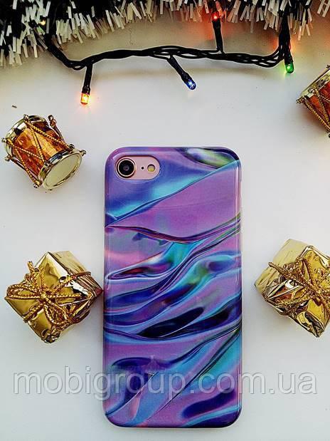 Силиконовый чехол Фиолетовый лак для iPhone 8