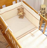 Защитные бортики и плед в детскую кроватку, Izziwotnot