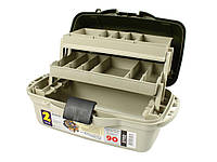 Контейнер, органайзер, коробка, ящик для рыболовных снастей 2 полки Aquatech 2702 удобная ручка