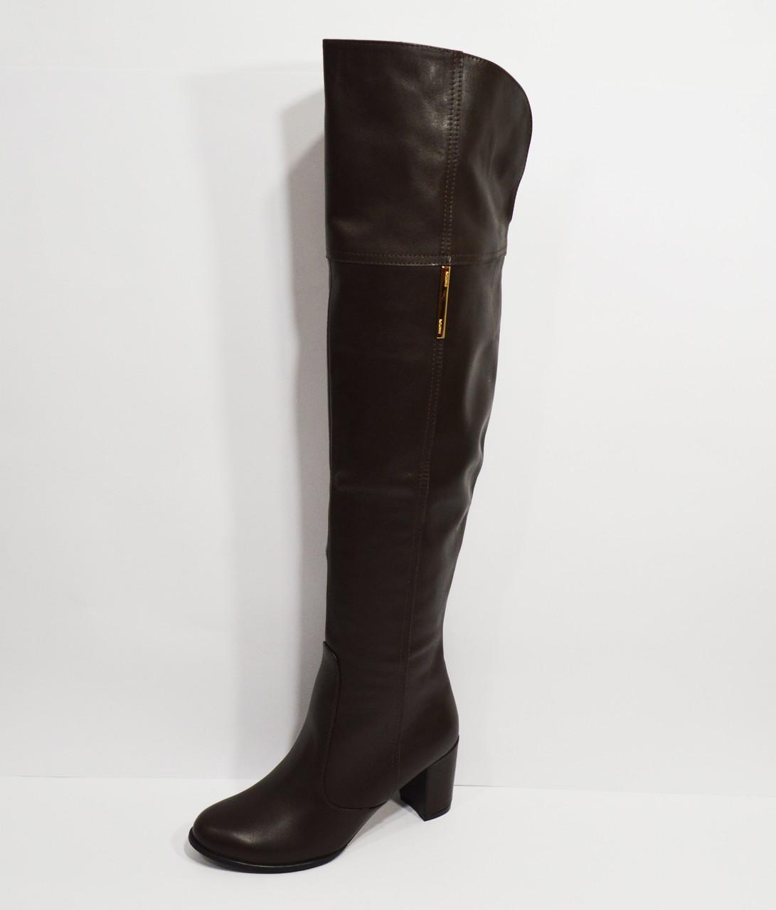 Сапоги коричневые демисезонные Kluchini 3403