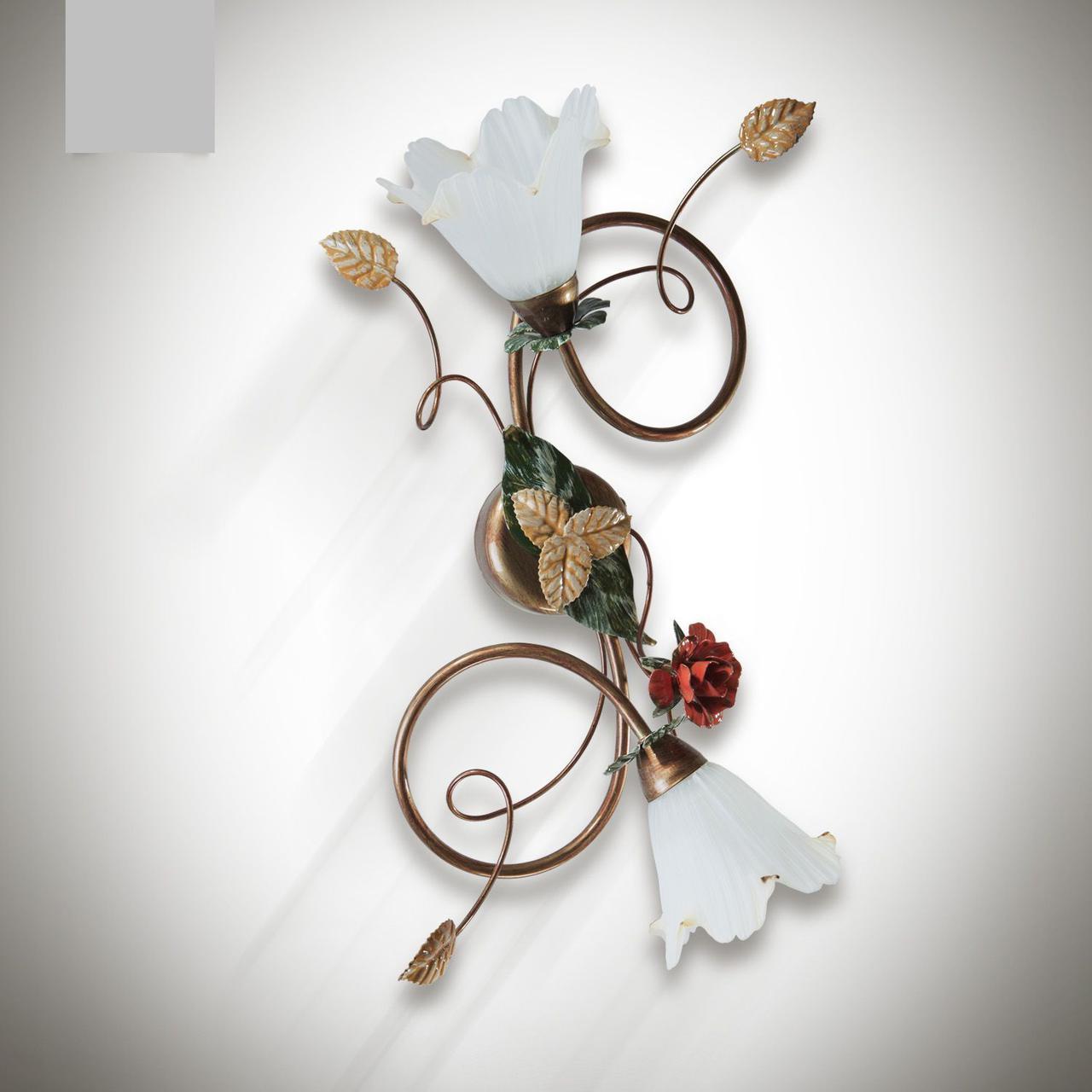 Люстра металлическая с цветами для спальни, кухни, прихожей 15202-1