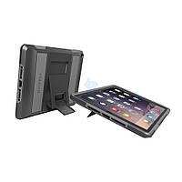 """Противоударная накладка с функцией подставки (сертификат MIL-STD-810G), Pelican Protective Case - """"Voyager"""" для iPad Air 2 - черный с серым (C11030)"""