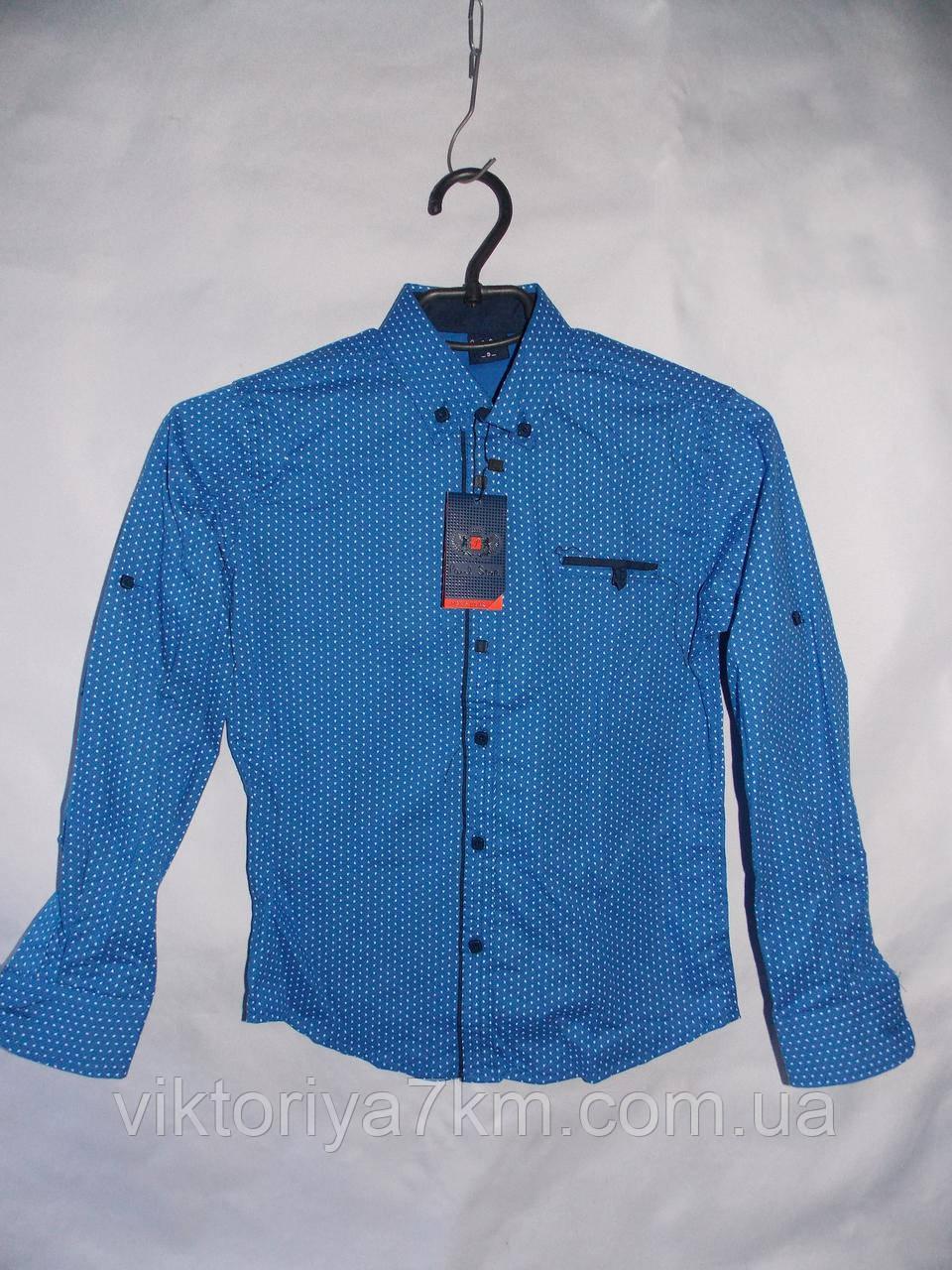 """Рубашка детская на мальчика длинный рукав (6-11 лет) """"Prest"""" RS2-5034"""