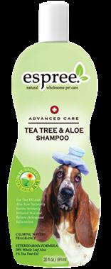 Espree Tea Tree & Aloe Shampoo, 591 мл -шампунь для проблемной сухой кожи собак с маслом чайного дерева и алое