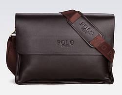Мужская сумка через плечо POLO VIDENG A4 Dark Brown