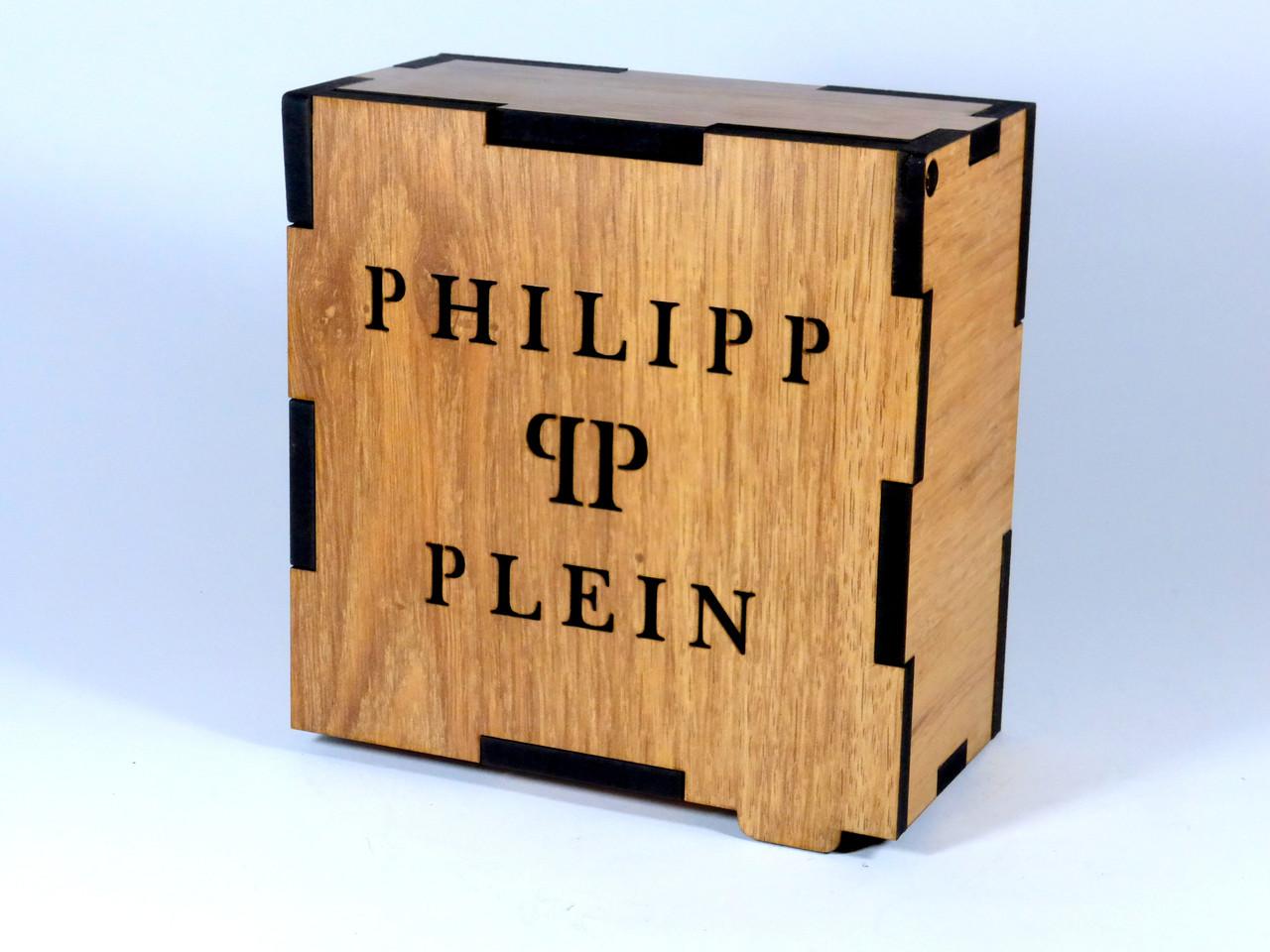 Подарочная деревянная коробка для ремней PHILIPP PLEIN (реплика)
